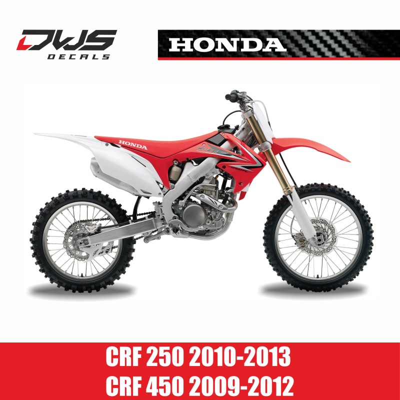honda crf 250 2010 2013 crf 450 2009 2012 dws decals. Black Bedroom Furniture Sets. Home Design Ideas