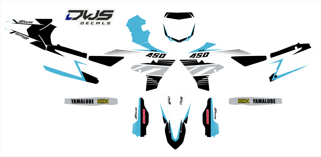 yamaha yzf 450 2018 2021 model 3 set  dwsdecals