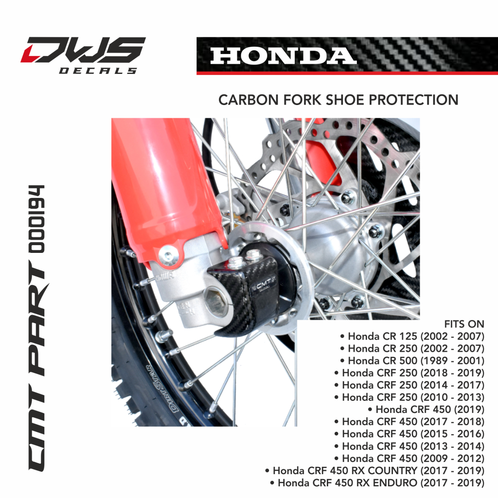 Carbon Fork Shoe Protection For Honda Dws Decals